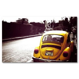 Αφίσα (κίτρινος, αυτοκίνητο, μαύρο, λευκό, άσπρο)